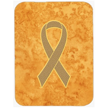 Peach Ribbon for Uterine Cancer Awareness Mouse Pad, Hot Pad or Trivet (Yellow Ribbon Mouse Pad)