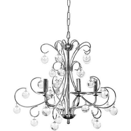 wellyer inc apollo 5 light crystal chandelier walmart com