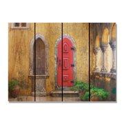 Day Dream HQ RD3324 33 x 24 in. Red Door Inside & Outside Cedar Wall Art