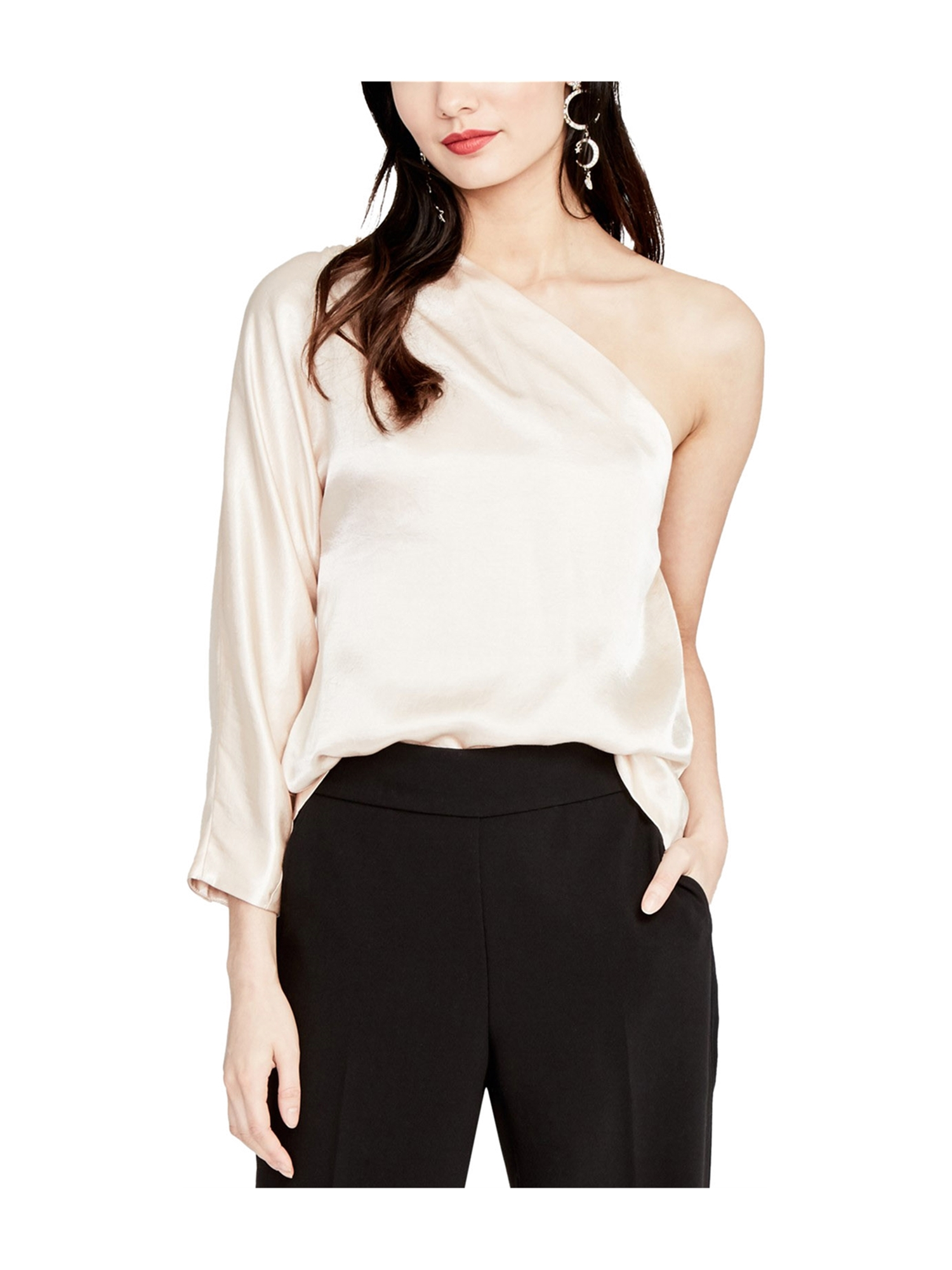 13285d7f7bb23 Rachel Roy Womens One Shoulder Knit Blouse blossom XL