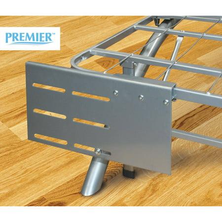 Premier Ellipse Headboard/Footboard Bed Frame Bracket, Multiple Colors (Silver Metal Beds Headboards)