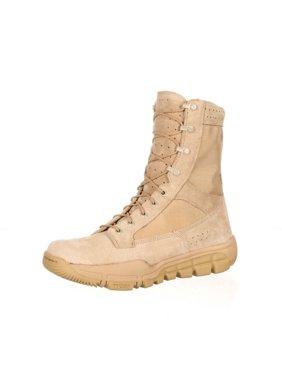 """Rocky Tactical Boots Mens 8"""" Lightweight Leather Desert Tan RKC041"""