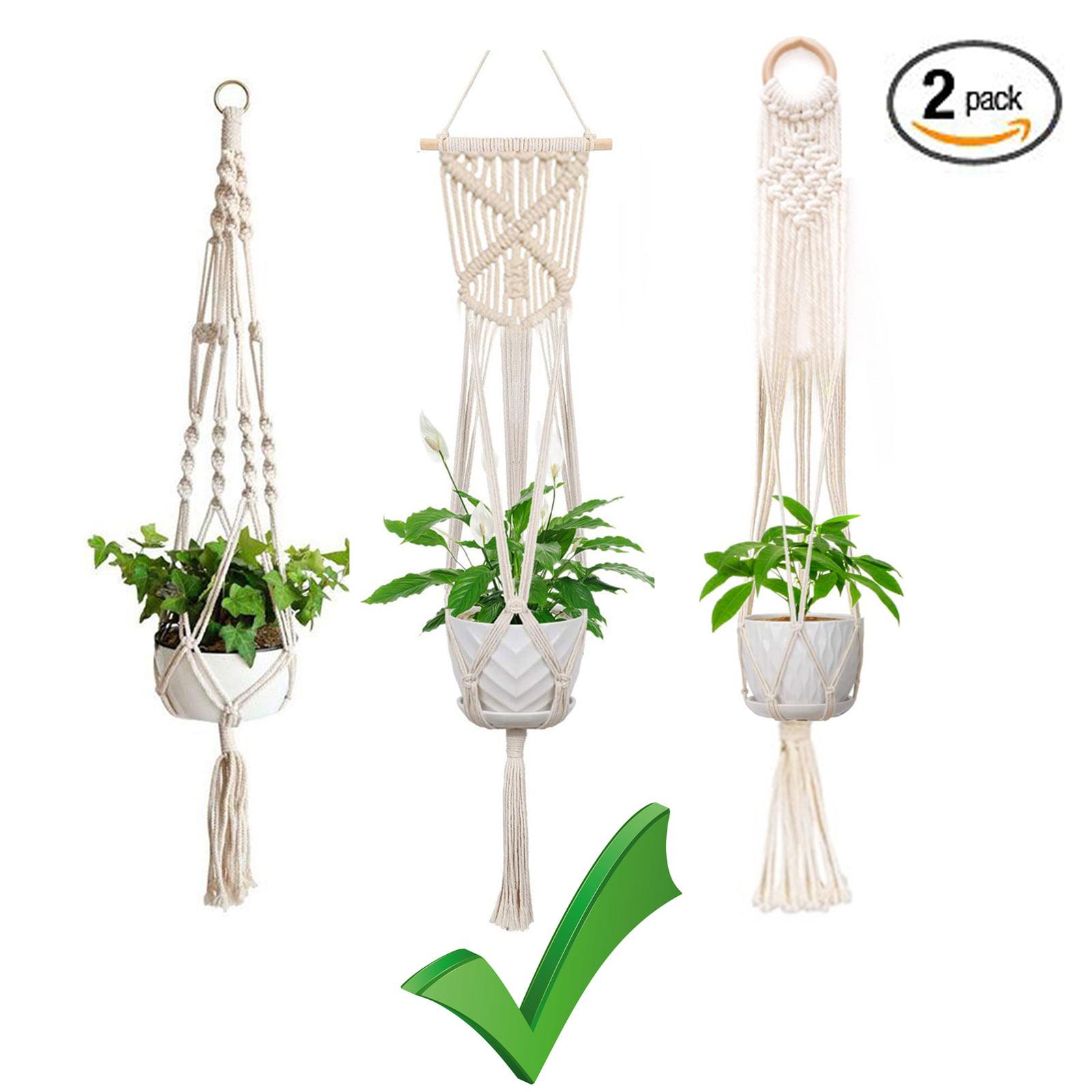 Plant Hanger Macrame Hanging Planter Basket Rope Flower Pot Holder Decor