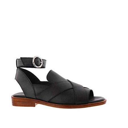 People Leather - Free People Womens Catherine Loafer Leather Peep Toe Casual Ankle Strap Sandals