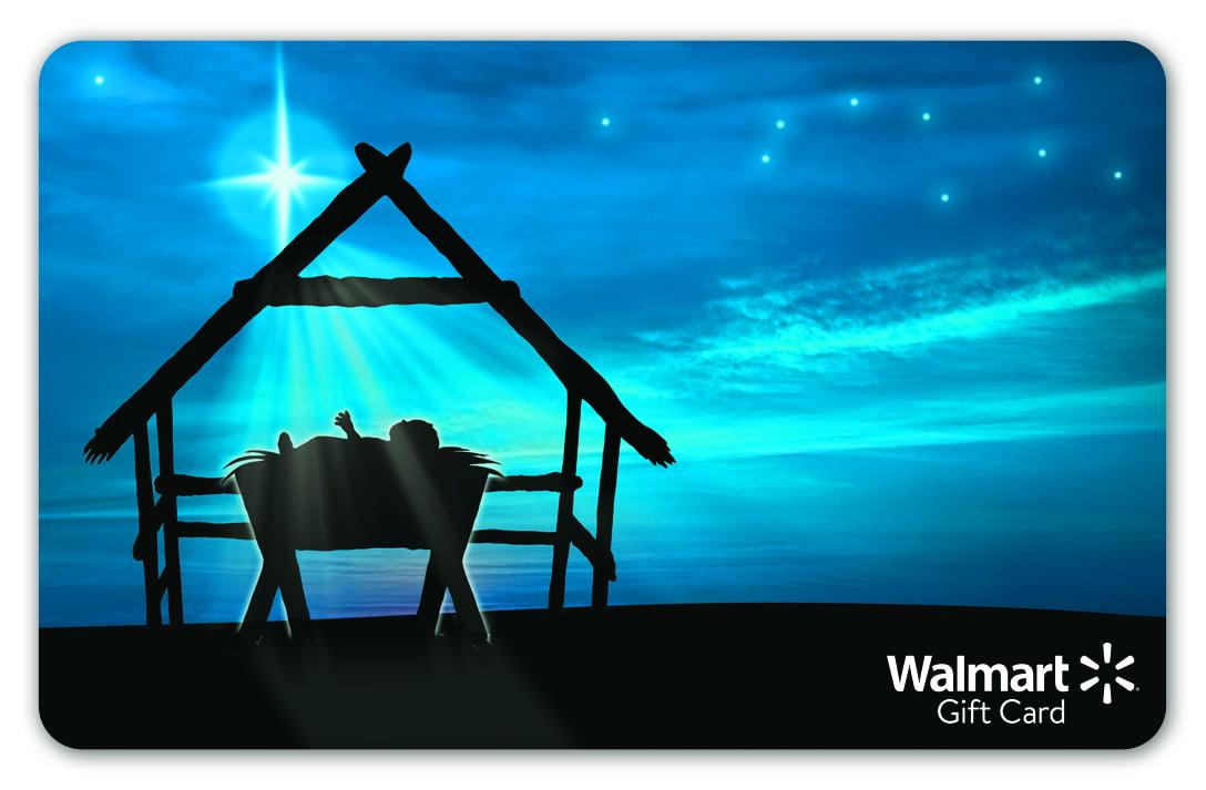 Baby Manger Holiday Walmart Gift Card by WALMART