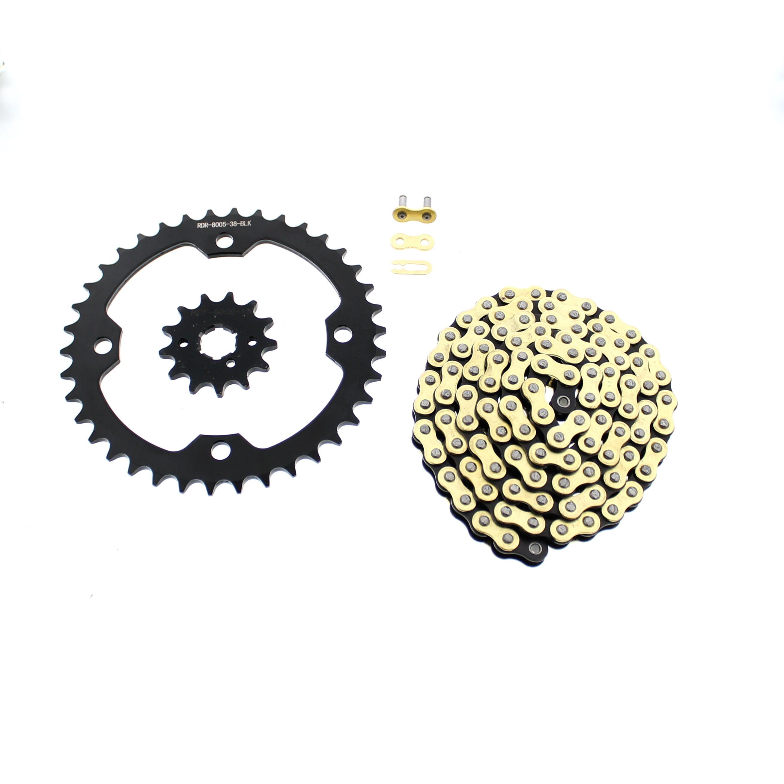Yellow Non O Ring Chain /& Sprocket Black 13//40 Yamaha YFM350 Warrior 350