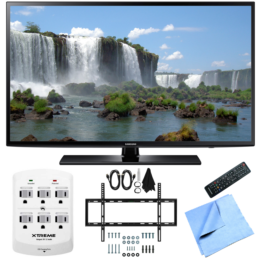 Samsung UN50J6200 50-Inch Full HD 1080p 120hz LED HDTV Slim Flat Wall Mount Bundle includes 50-Inch Full HD TV, Slim Flat Wall Mount Bundle, 6 Outlet Wall Tap w/ 2 USB Ports and Beach Camera Cloth