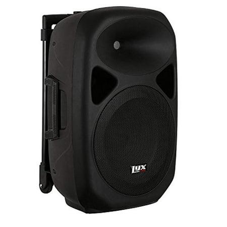 LyxPro 12 Battery PA Speaker w/ 2 Wireless Microphones , Blootuth MP3 USB (12a Speaker)
