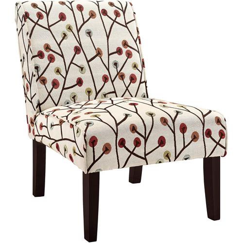 Dorel Living Teagan Armless Accent Chair, Floral Pattern