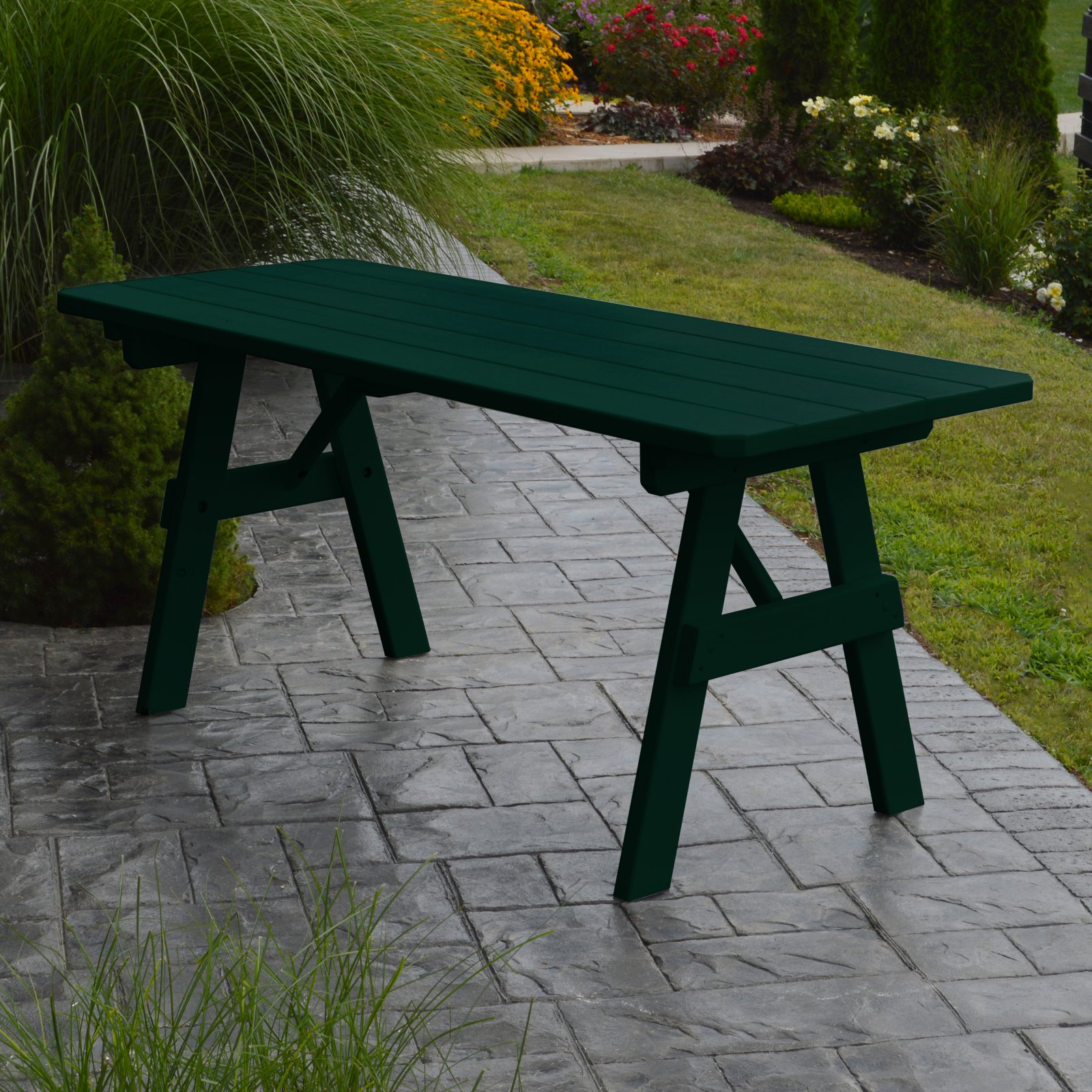 A & L Furniture Yellow Pine Traditional Picnic Table by A and L Furniture Co
