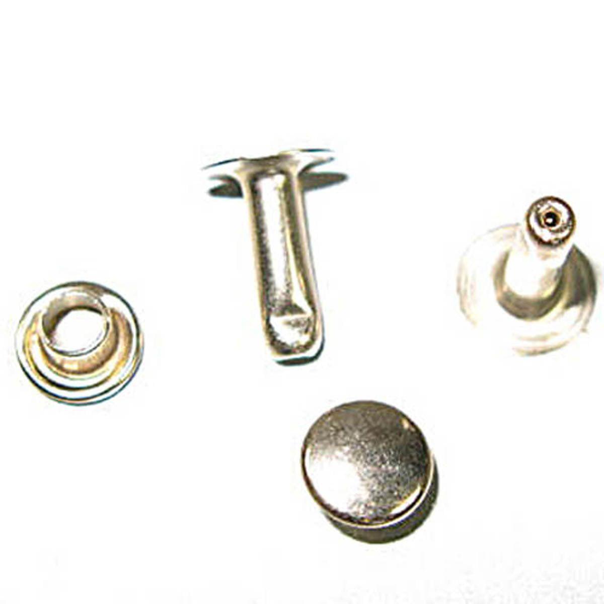 Rivet Med. 7mm Cap 10mm Post Nickel
