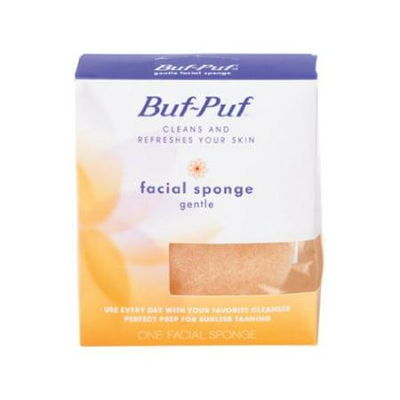 Natural Facial Sponge - 5 Pack Buf-Puf Gentle Facial Sponge 1 Each