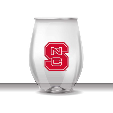 North Carolina State Wolfpack Stemless Shatterproof Heavy Duty Wine or Beverage Glass Set of -