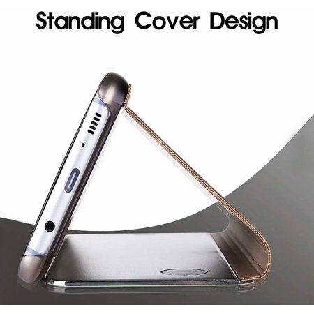 Samsung Galaxy S9 Plus Mirror Case Metal Flip Stand Phone Cover Full Protective Case for Samsung Galaxy S9 Plus - image 6 de 7