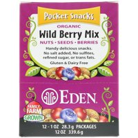 Eden Foods  Pocket Snacks  Organic Wild Berry Mix  12 Packages  1 oz  28 3 g  Each