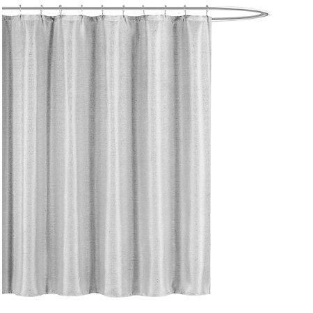 kensie home jane fabric shower curtain subtle pinstripe