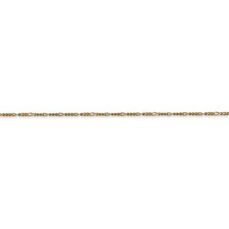 14K Yellow Gold 1.25mm Flat Figaro Chain - image 3 of 5