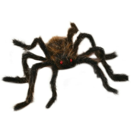Fun World Spooky Giant Hairy Spider Halloween Decoration Prop, 20