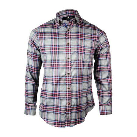 - Argyleculture Men's Pocket Checkered Cotton Dress Shirt