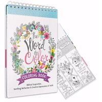 Christian Art Gifts 095390 Word in Color Adult Coloring Book