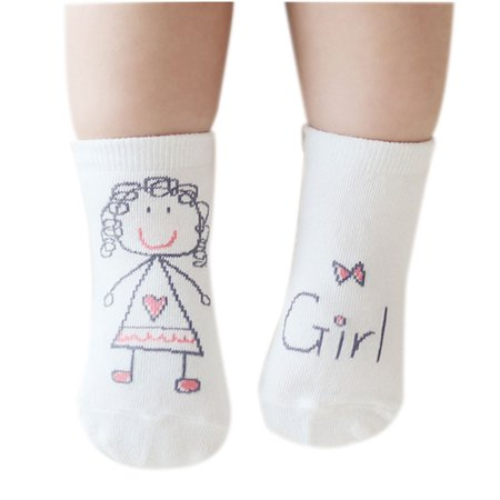 Joyfeel Hot Sale Children Socks Cartoon Pattern Infant Baby Boy Girl Cotton Short Antiskid Socks Feet Wear Socks for