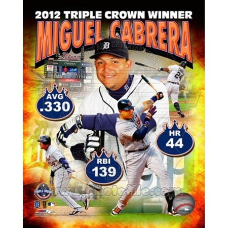 Miguel Cabrera Mlb Triple Crown Winner Composite Sports Photo  8 X 10