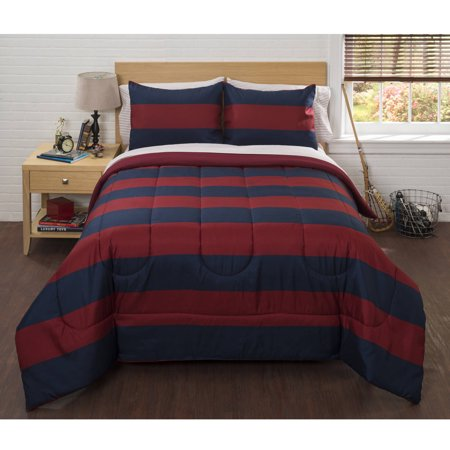 - American Original Classic Rugby Stripe Bed in a Bag Bedding Comforter Set