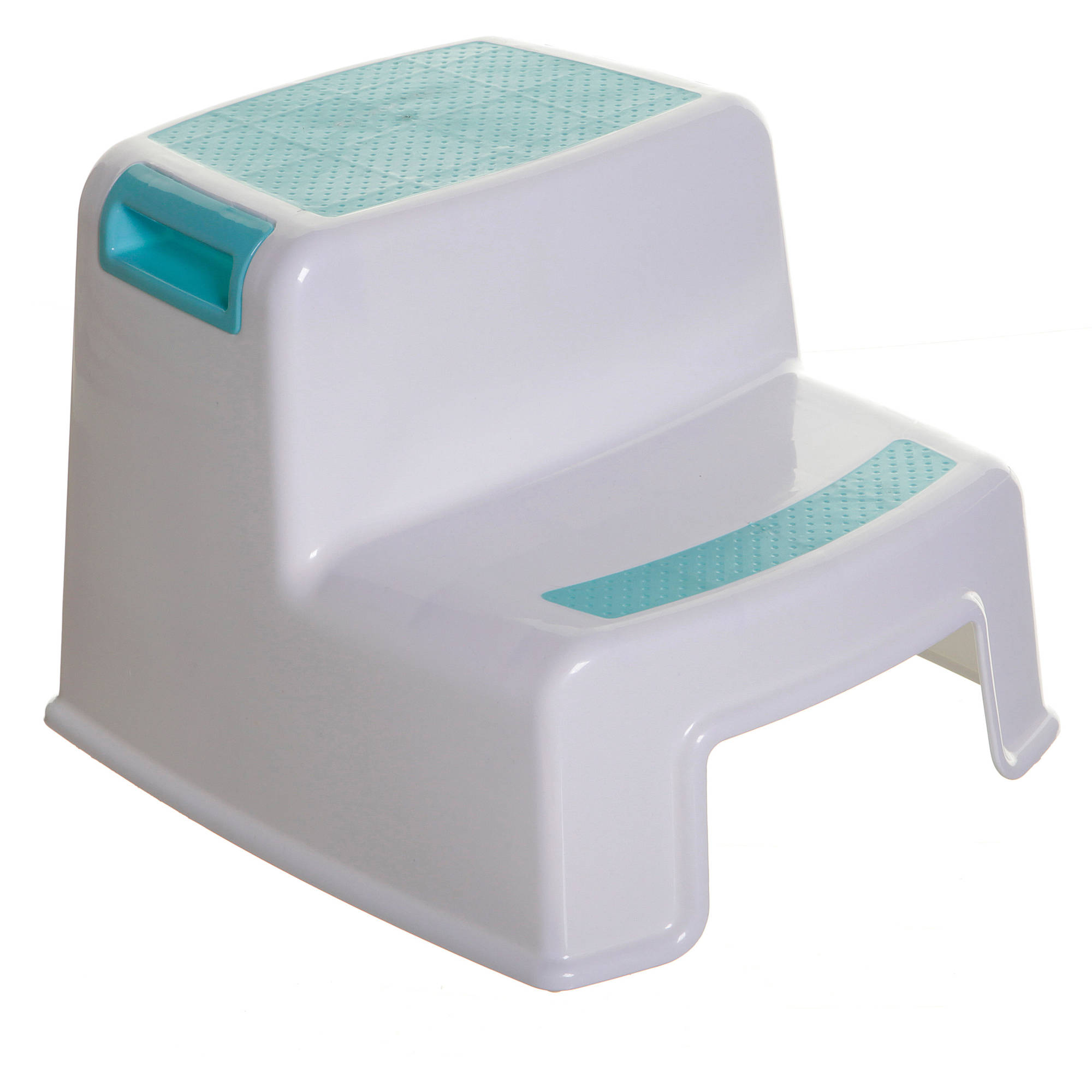 Cosco White Retro Counter Chair With Pull Out Step Stool