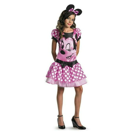 Costumes For All Occasions Dg11399K Minnie Mouse Pink Child 7-8 - Mouse Costume For Child