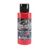 (Price/EA)Wicked Colors W005-16 Airbrush Paint 16oz Standard Red