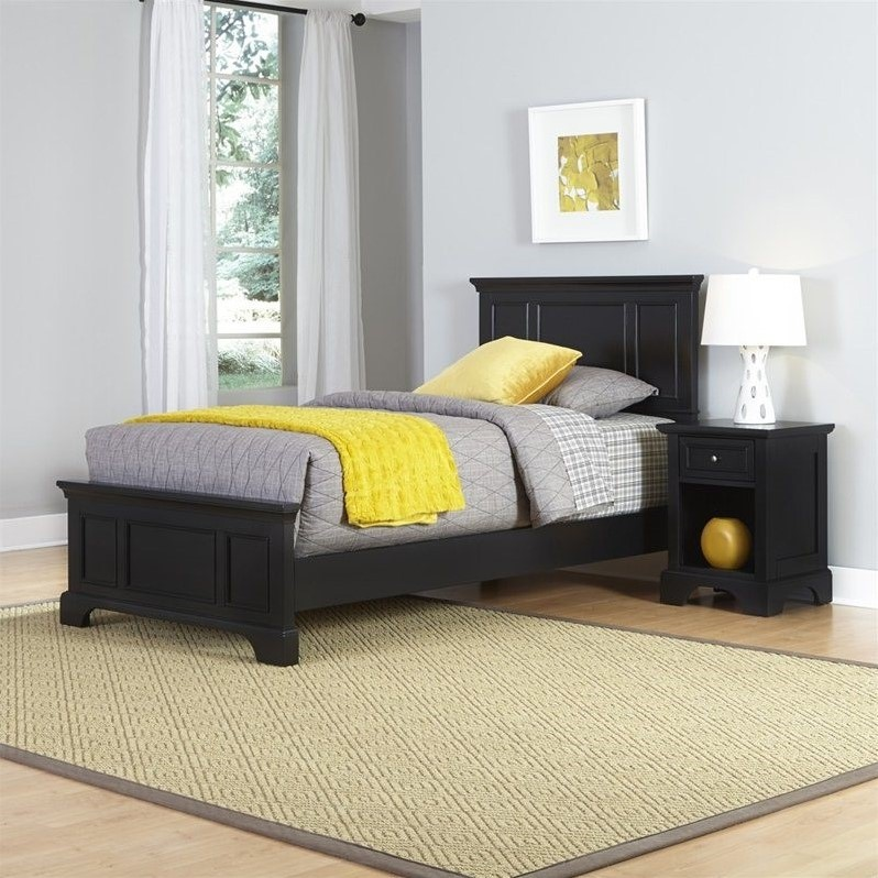 Home Styles Bedford Twin Bed and Night Stand