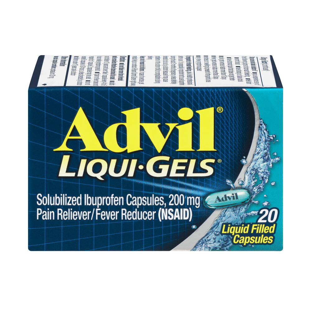 Advil Liqui-Gels Pain Reliever/Fever Reducer (Ibuprofen) 200mg 20 ct Box