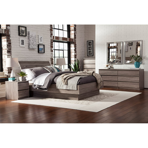 Laguna Queen Bed With Headboard, Truffle
