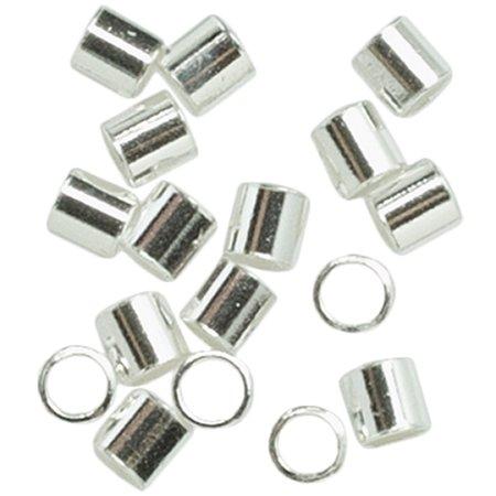 (Plated Silver Metal Findings Crimp Bead, 2.5mm, 75pk)