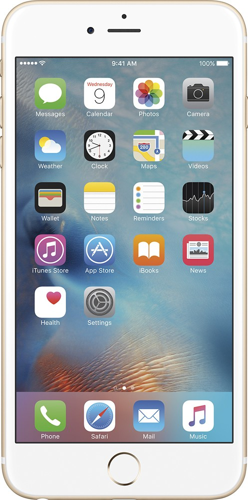 Apple iPhone 6s Plus 128GB Unlocked GSM 4G LTE 12MP Cell Phone Gold (Refurbished) by Apple