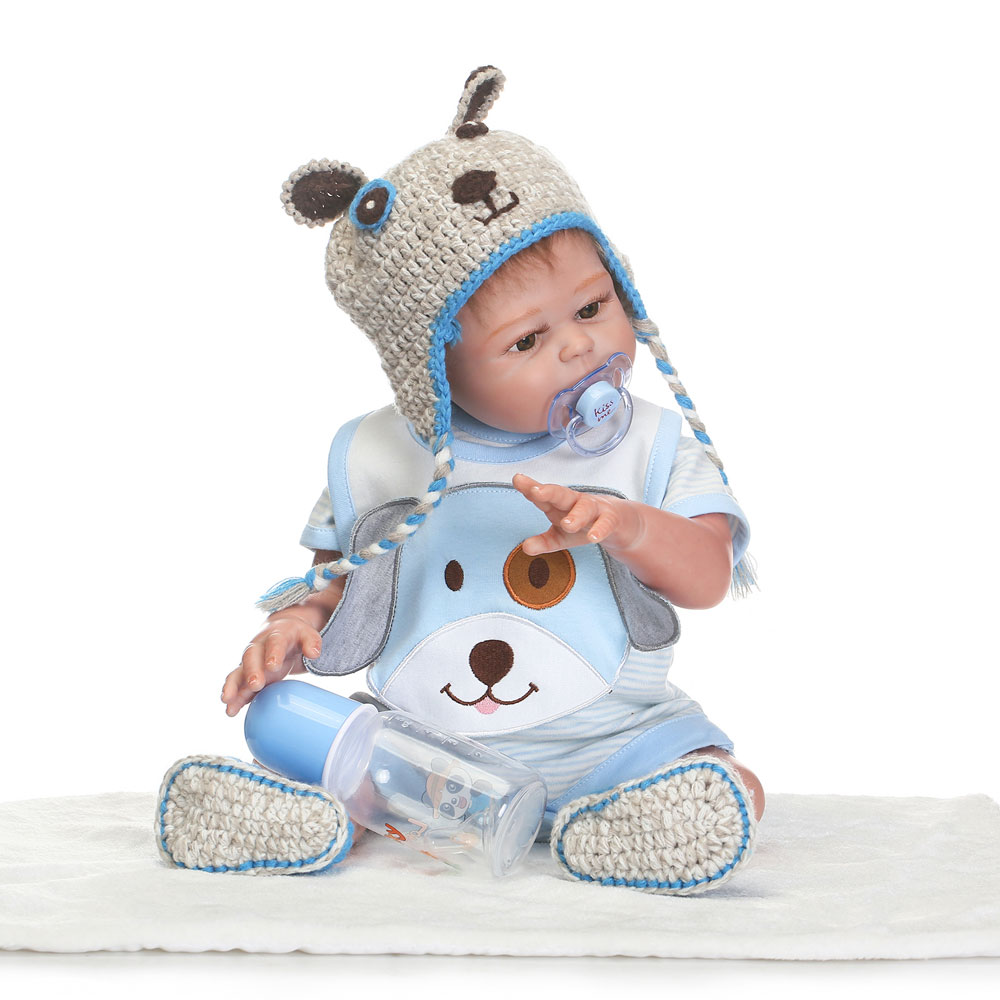 Zimtown Handmade Full Body Vinyl Silicone Reborn Baby Newborn Lifelike Boy Doll 20inch Christmas Gift
