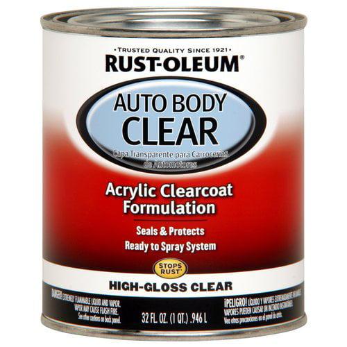 Rust-Oleum Automotive Enamel, Gloss Clear, 1 qt