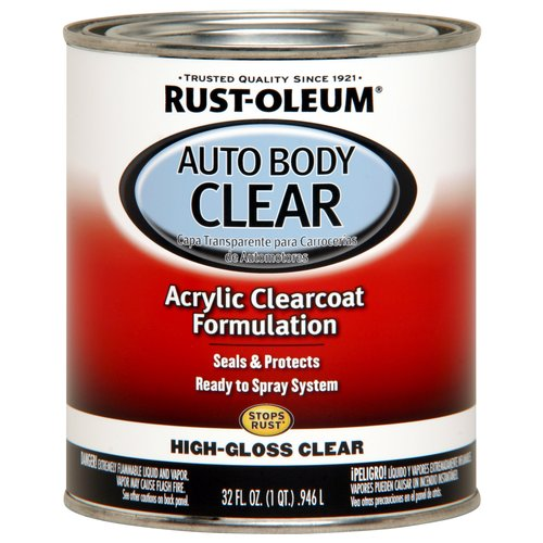 Rust-Oleum Automotive Enamel, Gloss Clear, 1 qt