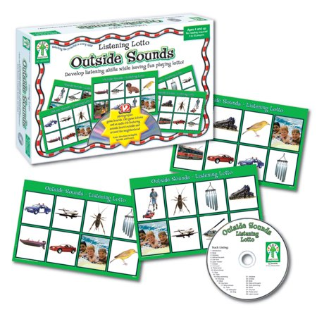 Key Education Listening Lotto Games, Sounds (Sound Games For Kids Guess The Sounds)