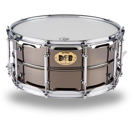- Pork Pie Big Black Brass Snare Drum with Tube Lugs and Chrome Hardware Black 14 x 6.5 in.