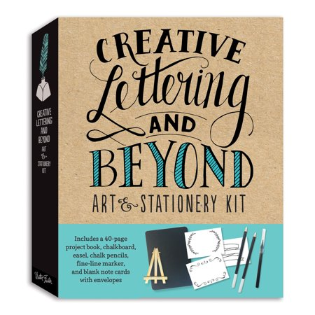 Creative Lettering - Creative Lettering and Beyond Art & Stationery Kit : Includes a 40-page project book, chalkboard, easel, chalk pencils, fine-line marker, and blank note cards with envelopes