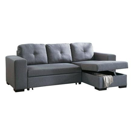 Poundex F6910 Bobkona Forbes Sectional Set, Blue Grey