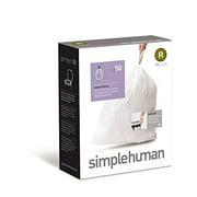 simplehuman Custom Fit Trash Can Liner R, 10 L / 2.6 Gallon, 50-Count Box