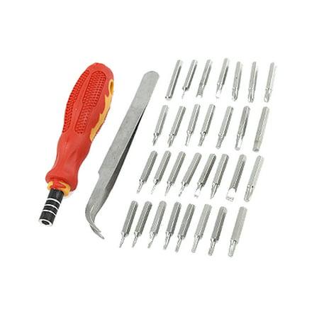 nonslip handle screwdriver torx slotted bits set w case. Black Bedroom Furniture Sets. Home Design Ideas