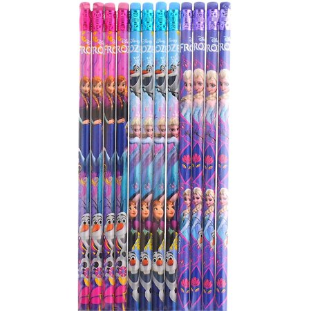 Party Favors Disney Frozen Authentic Licensed 24 Wood Pencils Pack (Frozen Party Favors)