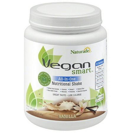 Naturade Vegan Smart All-in-One Vanilla Nutritional Shake Dietary Supplement, 22.8 oz