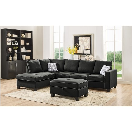 Latitude Run Mercurio Reversible Sectional with Ottoman