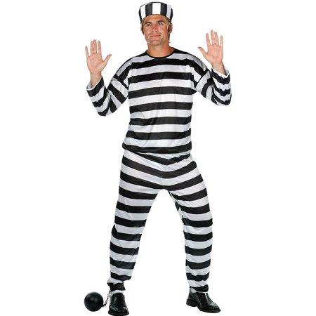 Mens Prisoner Of Love Convict Costume