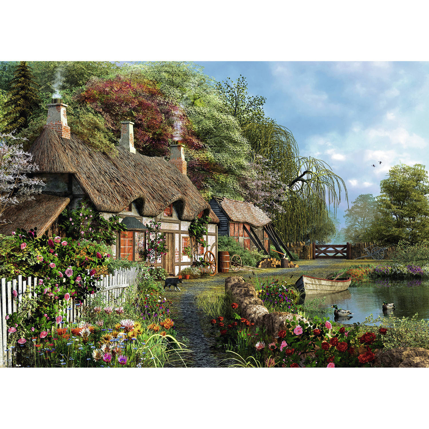 Cottage on a Lake Puzzle by Ravensburger USA Inc