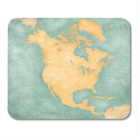 LADDKE Blank Outline Map of North America The is Mousepad Mouse Pad Mouse Mat 9x10